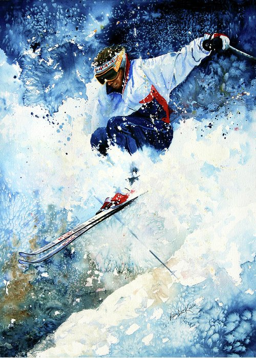 Watercolor Skiing Greeting Cards