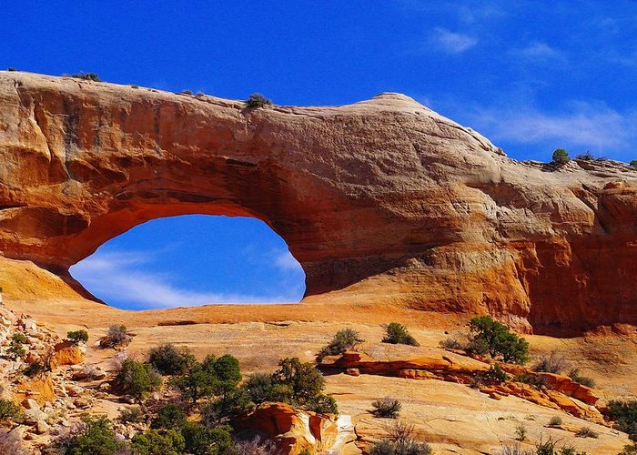 Arches Greeting Card featuring the photograph Wilsons Arch by Jeff Swan