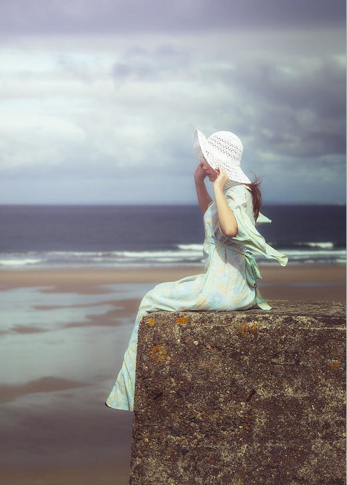 Woman Greeting Card featuring the photograph Windy by Joana Kruse