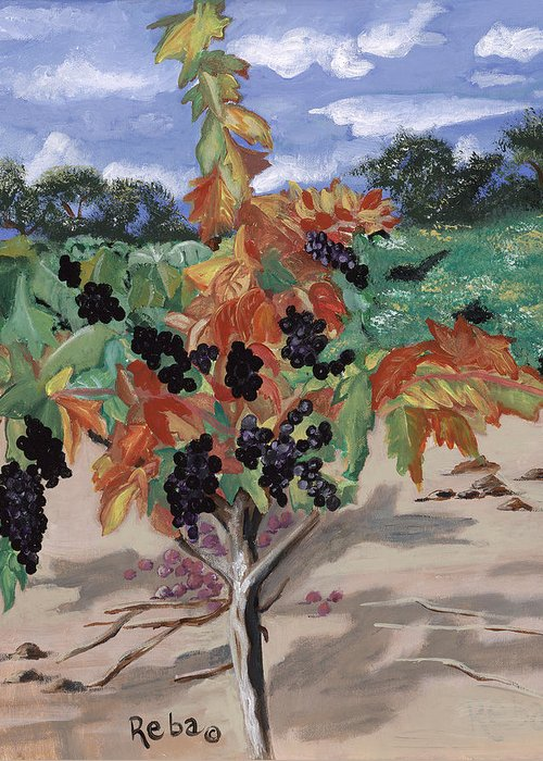 Solitary And One Of A Kind Wine Landscape Greeting Cards
