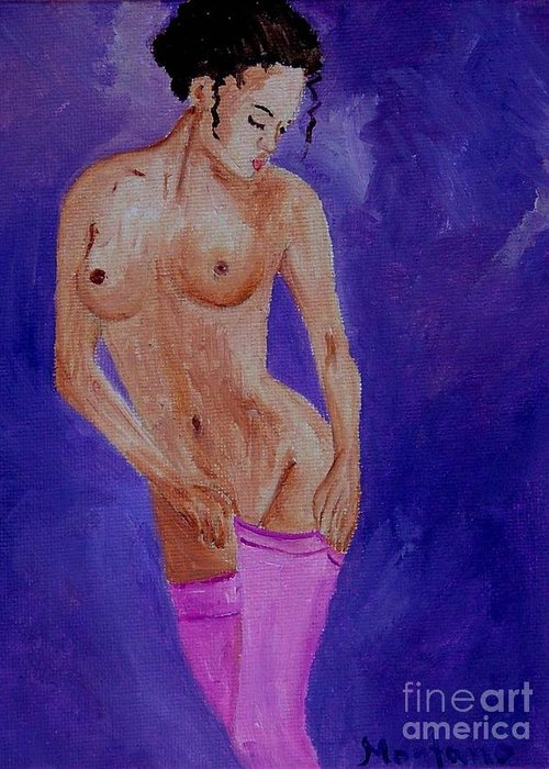 Nude Greeting Card featuring the painting Women Nude by Inna Montano