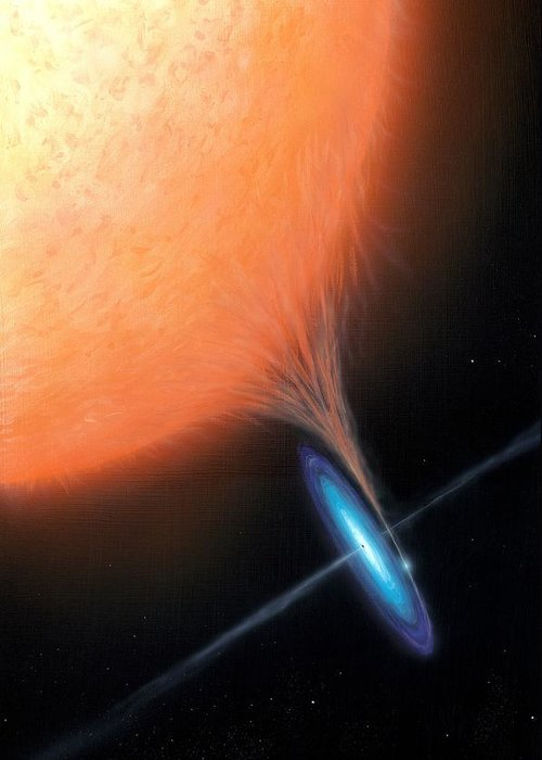 X-ray Binary Greeting Card featuring the photograph X-ray Binary System, Artwork by Science Photo Library