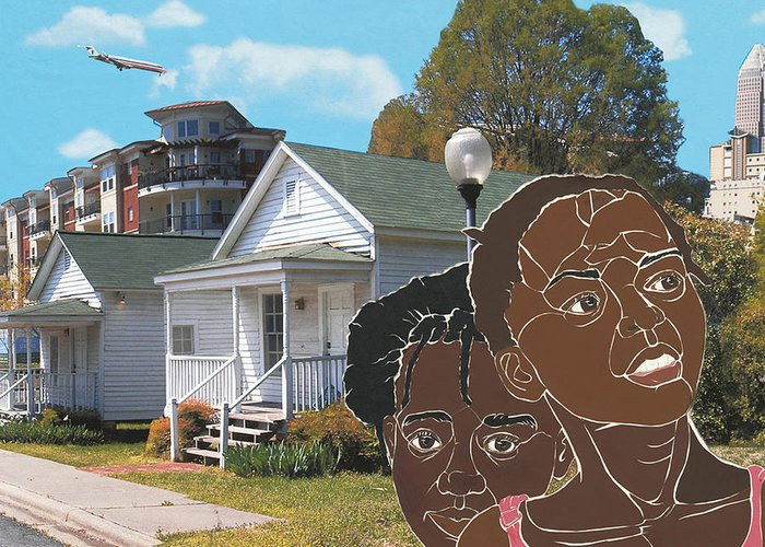 Shotgun Houses Greeting Card featuring the mixed media Yesterday Today Tomorrow by Martha Rucker