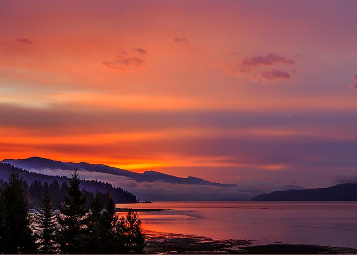 Lake Pend Oreille Greeting Card featuring the photograph 10-31-2014 by Kirk Miller