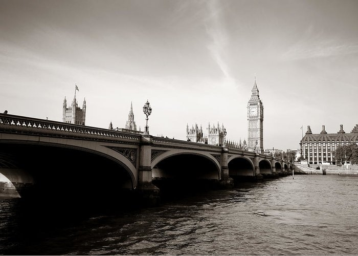 London Greeting Card featuring the photograph London Skyline by Songquan Deng