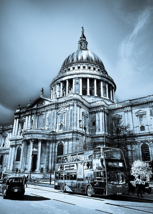 St Pauls Greeting Card featuring the digital art St Paul's Cathedral London Art by David Pyatt