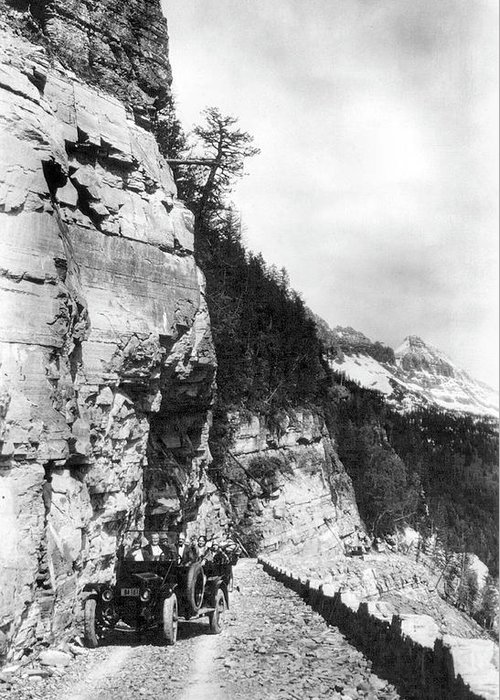 1920 Greeting Card featuring the photograph Glacier National Park by Granger