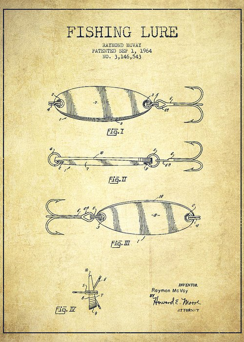 Antique Fishing Lures Greeting Cards