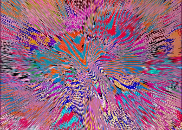 Abstract Greeting Card featuring the digital art 1106 Abstract Thought by Chowdary V Arikatla