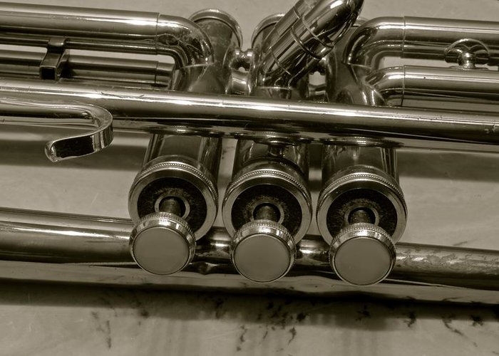 Art Music Instruments Trumpet Greeting Card featuring the photograph Art by Frank Conrad