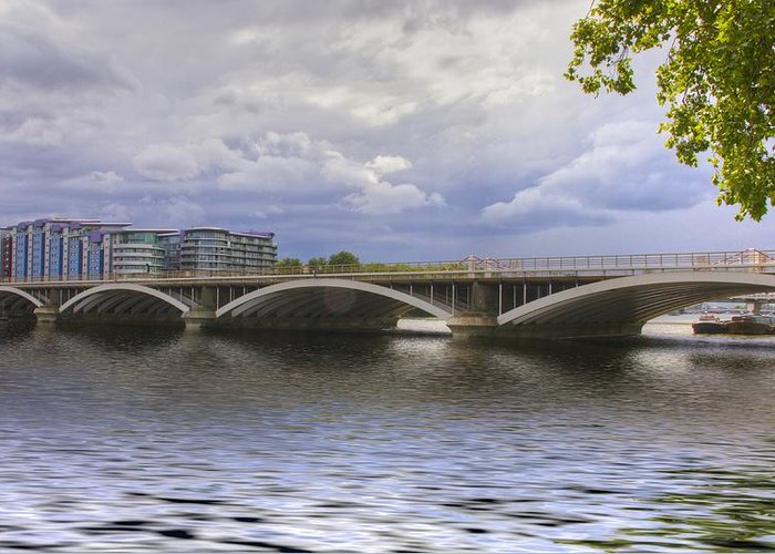 London Greeting Card featuring the photograph London Thames Bridges by David French