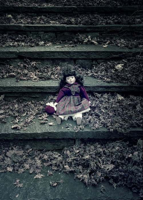 Doll Greeting Card featuring the photograph Old Doll by Joana Kruse
