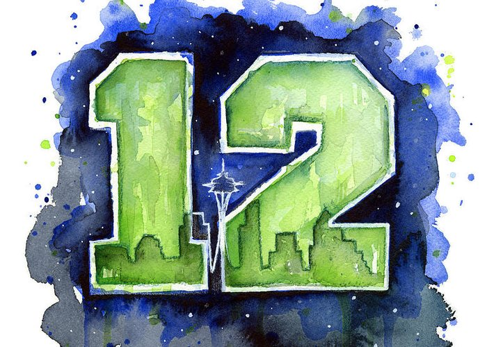 Seattle Seahawks Greeting Cards