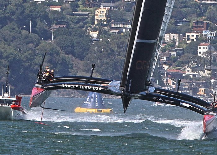 America's Cup Greeting Card featuring the photograph America's Cup San Francisco by Steven Lapkin