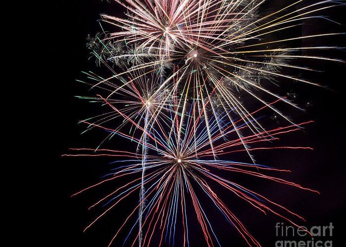 Fireworks Greeting Card featuring the photograph Local Fireworks by Mark Dodd