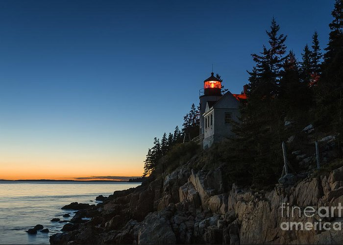 Acadia Greeting Card featuring the photograph Bass Harbor Lighthouse by John Greim