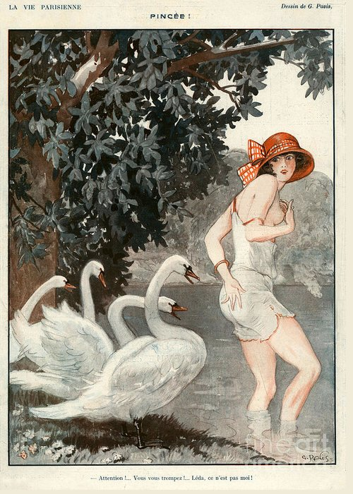1920�s Greeting Card featuring the drawing La Vie Parisienne 1923 1920s France by The Advertising Archives