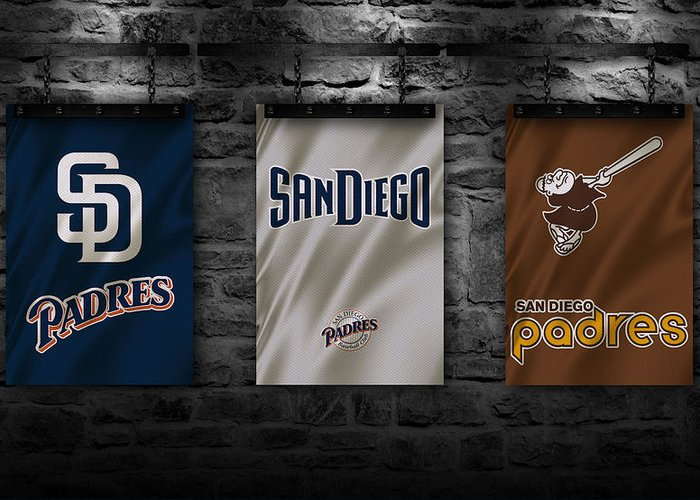 San Diego California Baseball Stadiums Greeting Cards