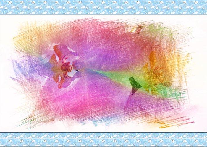 Corolla Greeting Card featuring the painting Purple Corolla by Xueyin Chen