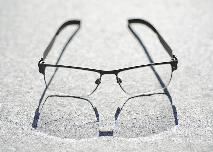 Eyeglasses Greeting Card featuring the photograph Eyeglasses by Mats Silvan