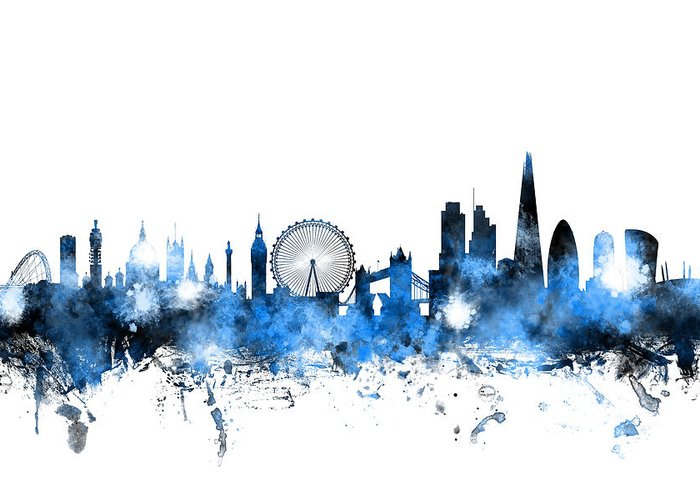 London Skyline Greeting Cards