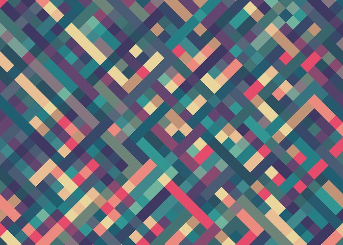 Abstract Greeting Card featuring the digital art Pixel Art by Mike Taylor