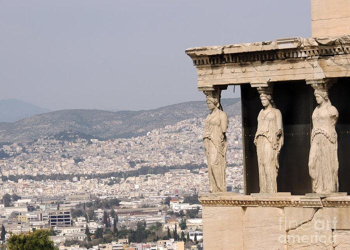 Greeting Card featuring the photograph Acropolis by Paul Sandilands