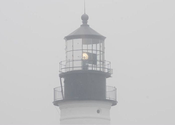 Greeting Card featuring the photograph Portland Head Light by Frank Roma