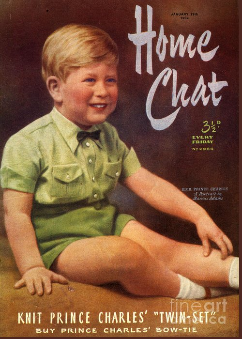 Boys Greeting Card featuring the drawing 1950s Uk Home Chat Magazine Cover by The Advertising Archives