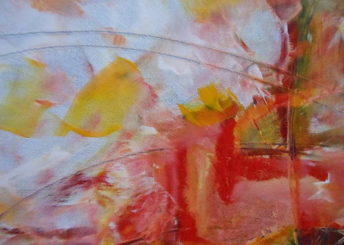 Abstract Greeting Card featuring the painting Abstract Exhibit by Lord Frederick Lyle Morris