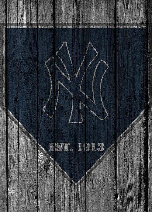 Yankees Greeting Card featuring the photograph New York Yankees by Joe Hamilton