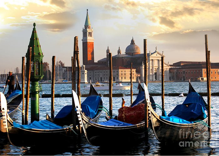Landmark Greeting Card featuring the photograph Venice In Italy by Tomas Marek