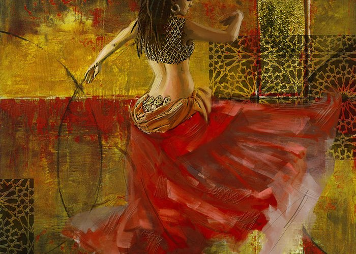 Moroccan Dancer Greeting Cards