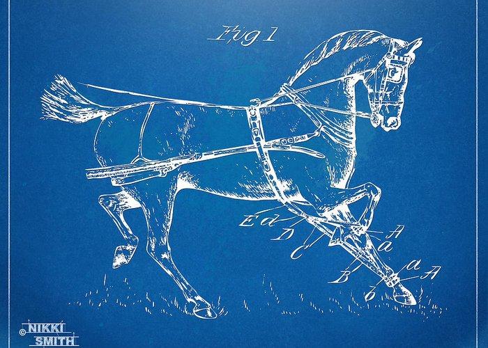Horse-drawn Digital Art Greeting Cards