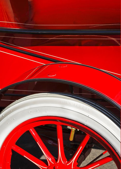 Classic Car Greeting Card featuring the photograph 1903 Pope Hartford B Wheel Abstract by Jill Reger