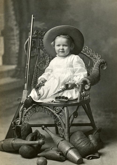 Americana Greeting Card featuring the photograph 1910 American Tomboy by Historic Image