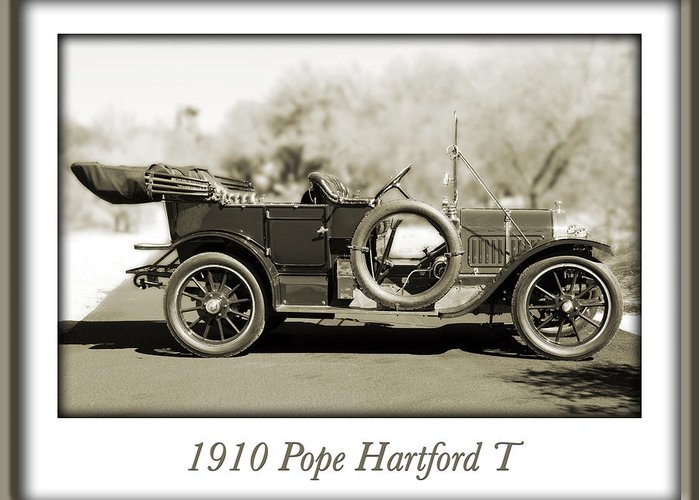 1910 Pope Hartford T Greeting Card featuring the photograph 1910 Pope Hartford T by Jill Reger