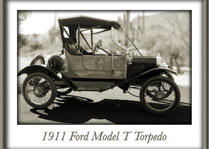 1911 Ford Model T Torpedo Greeting Card featuring the photograph 1911 Ford Model T Torpedo by Jill Reger