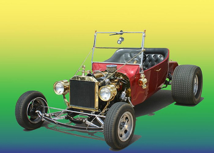 Ford Pinto Powered T Bucket Greeting Card featuring the photograph 1923 Ford T Bucket by Jack Pumphrey