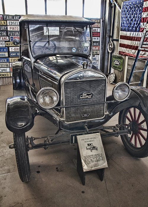 1926 Ford Model T Runabout Greeting Card featuring the photograph 1926 Ford Model T Runabout by Douglas Barnard