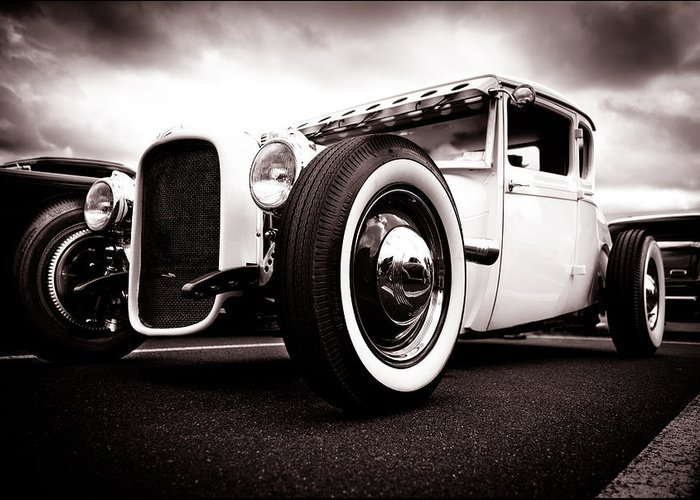 Ford Hotrod Greeting Card featuring the photograph 1928 A Coupe by Phil 'motography' Clark