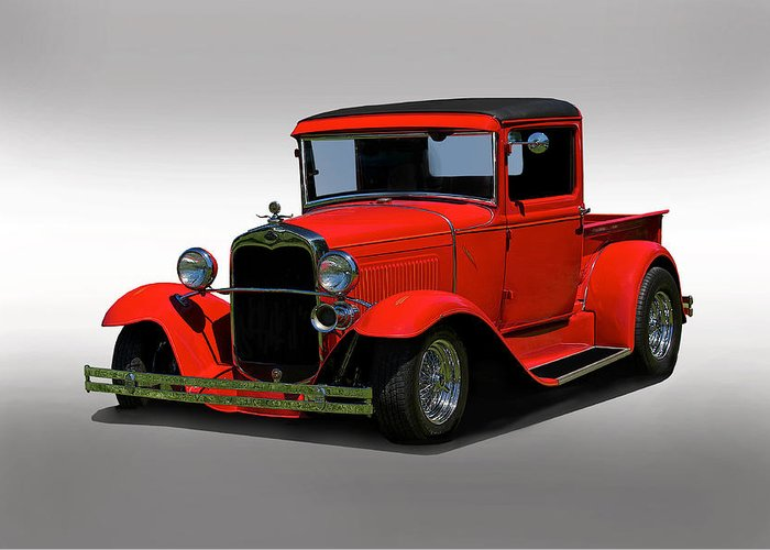 Coupe Greeting Card featuring the photograph 1930 Ford Model A Pick Up by Dave Koontz