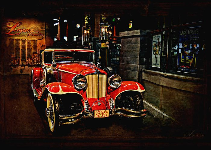 Old Car Greeting Card featuring the photograph 1931 Cord L-29 by Maria Angelica Maira