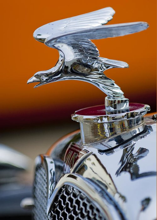 1932 Alvis Speed 20 Greeting Card featuring the photograph 1932 Alvis Hood Ornament 2 by Jill Reger