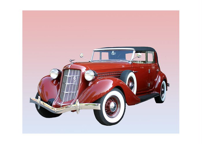 1935 Auburn 851 Phaeton Greeting Card featuring the photograph 1935 Auburn 8 Phaeton 851 by Jack Pumphrey