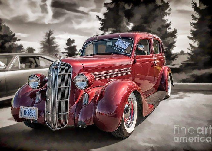 1936 dodge 4 door sedan greeting card for sale by gene healy for 1936 dodge 4 door sedan