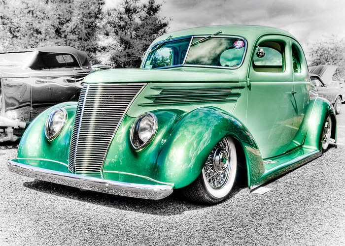 Ford Coupe Greeting Card featuring the photograph 1937 Ford Coupe by Phil 'motography' Clark