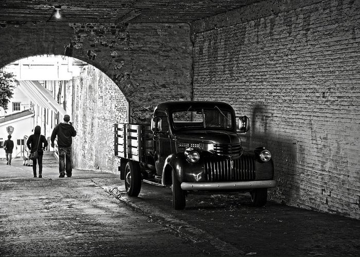 Chevrolet Greeting Card featuring the photograph 1940 Chevrolet Pickup Truck In Alcatraz Prison by RicardMN Photography