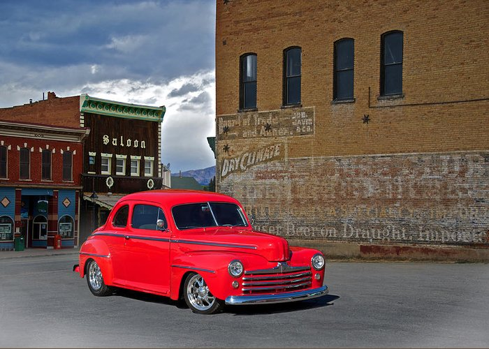 Coupe Greeting Card featuring the photograph 1947 Ford Coupe by Dave Koontz