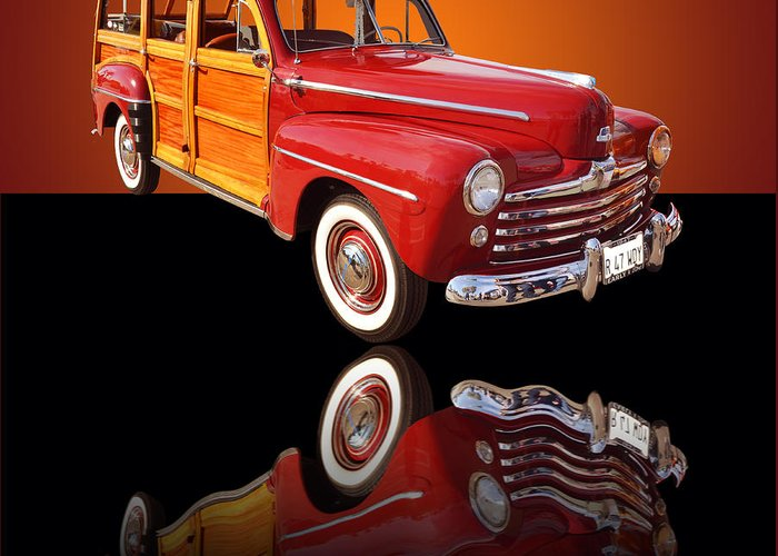 Car Greeting Card featuring the photograph 1947 Ford Woody by Jim Carrell